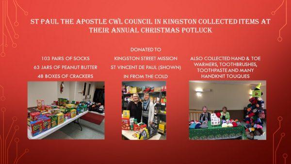 CWL Kingston St Paul the Apostle donations